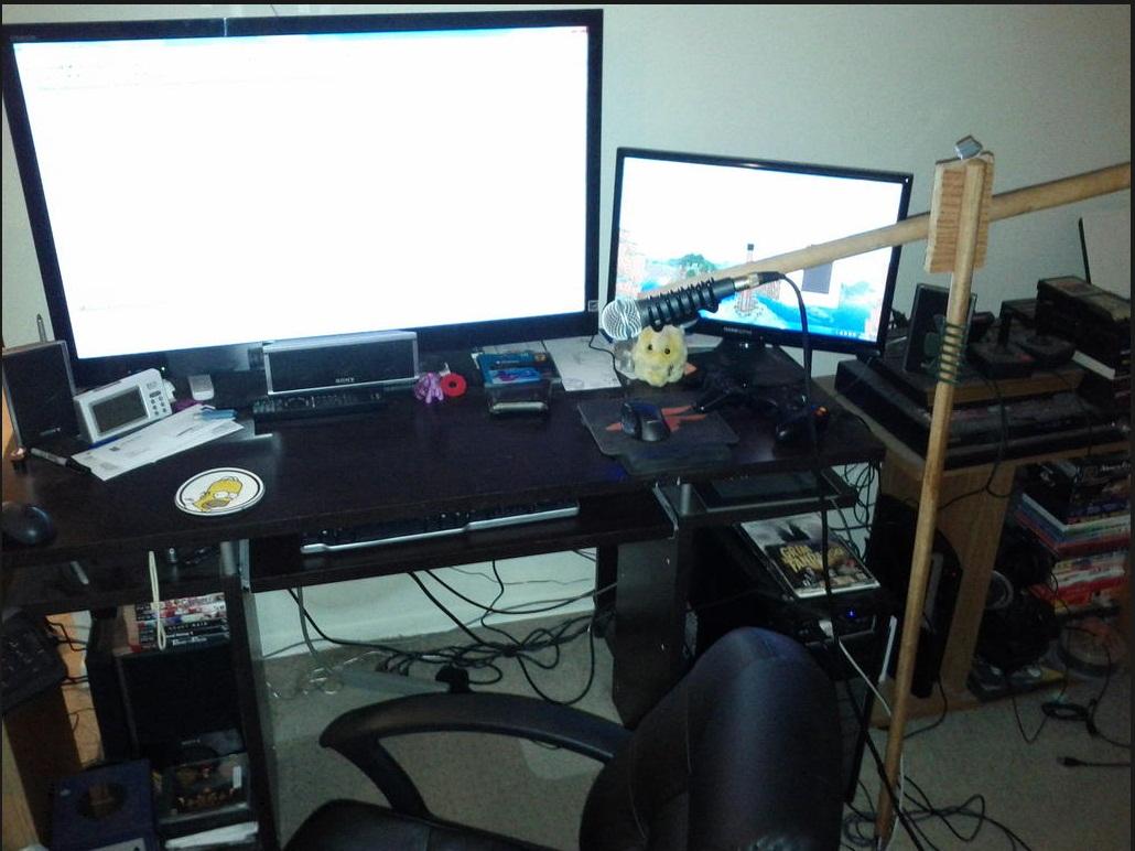 pre-LD25 desk setup