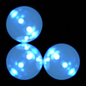 three hypothetical atoms