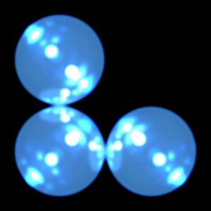three hypothetical atoms