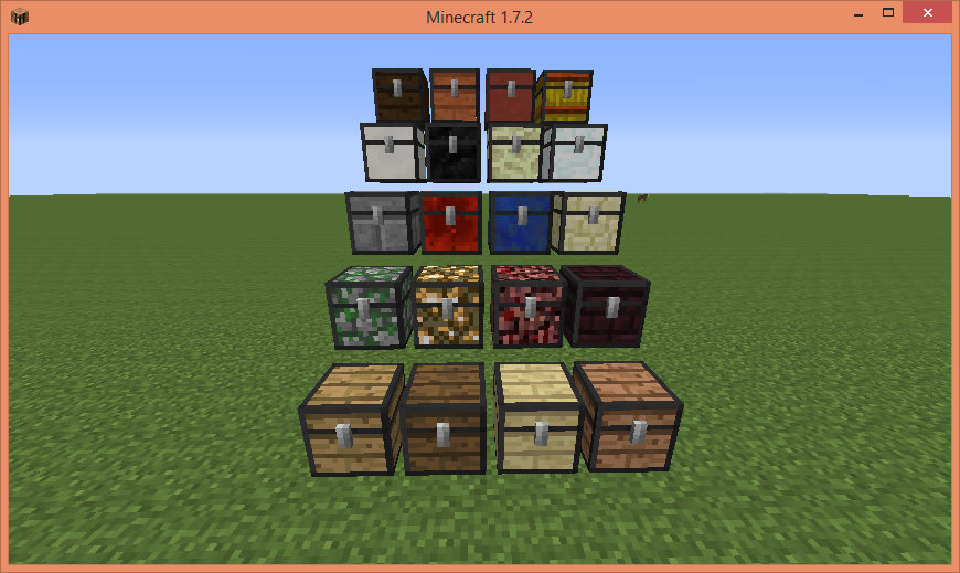 7jtjI [1.7.10] Chest Plus (Colored Chest) Mod Download