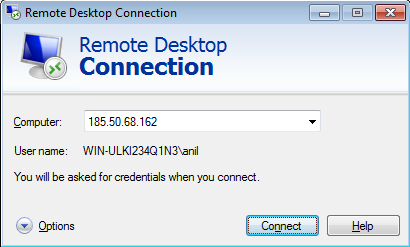 Remote Desktop Screen