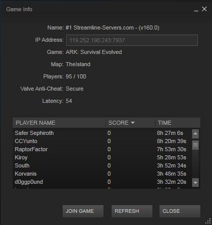Server List