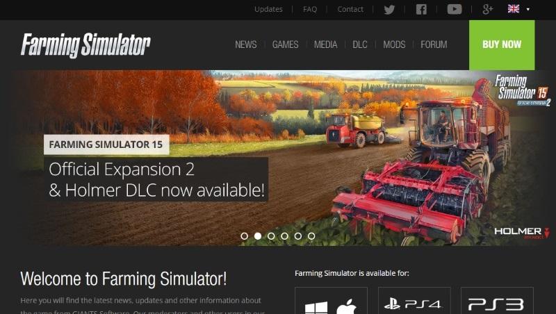 Farming Simulator website has a new look!