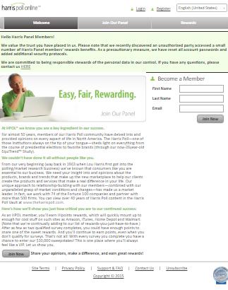 Harris Poll Online Homepage