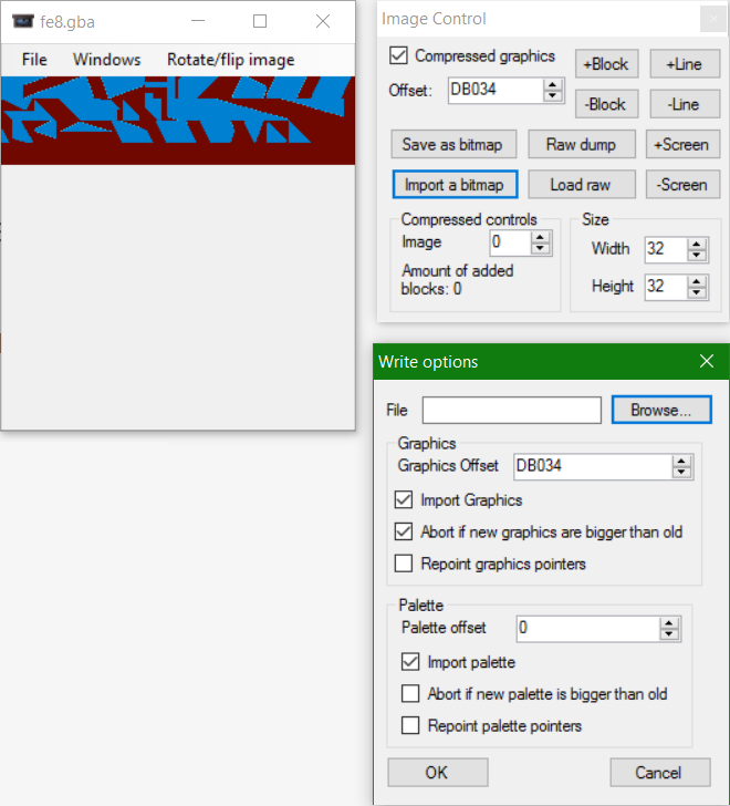 Importing a bitmap in GBAGE