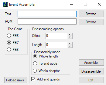 Event Assembler Window