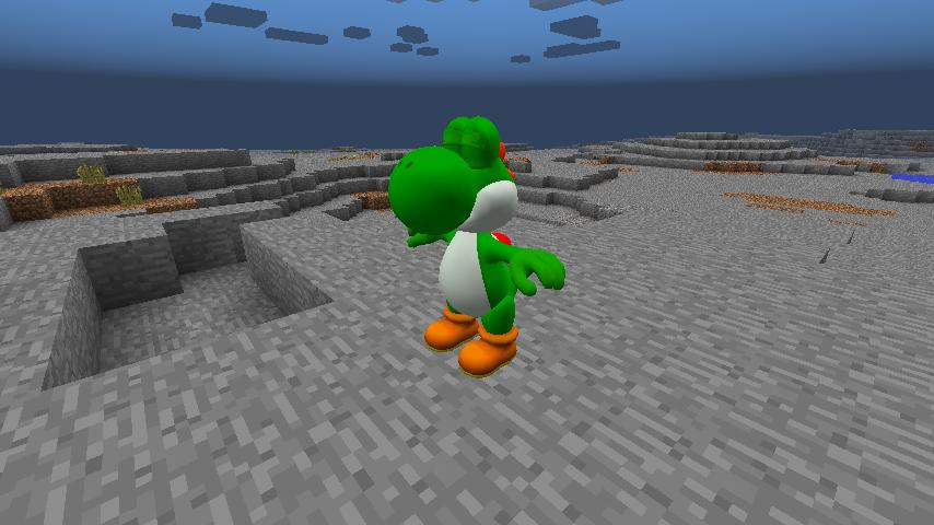modèle de Yoshi dans Minecraft