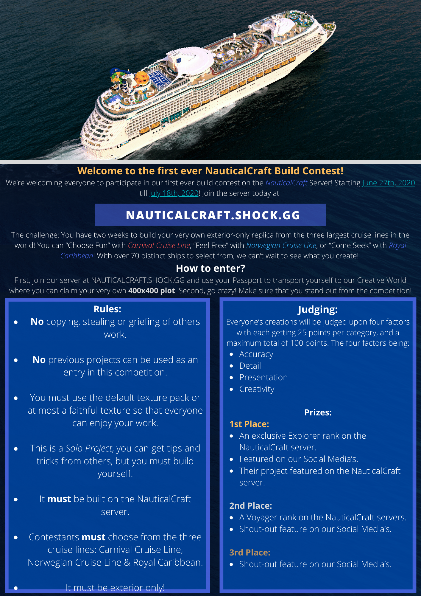 NauticalCraft | Build Contest Rules