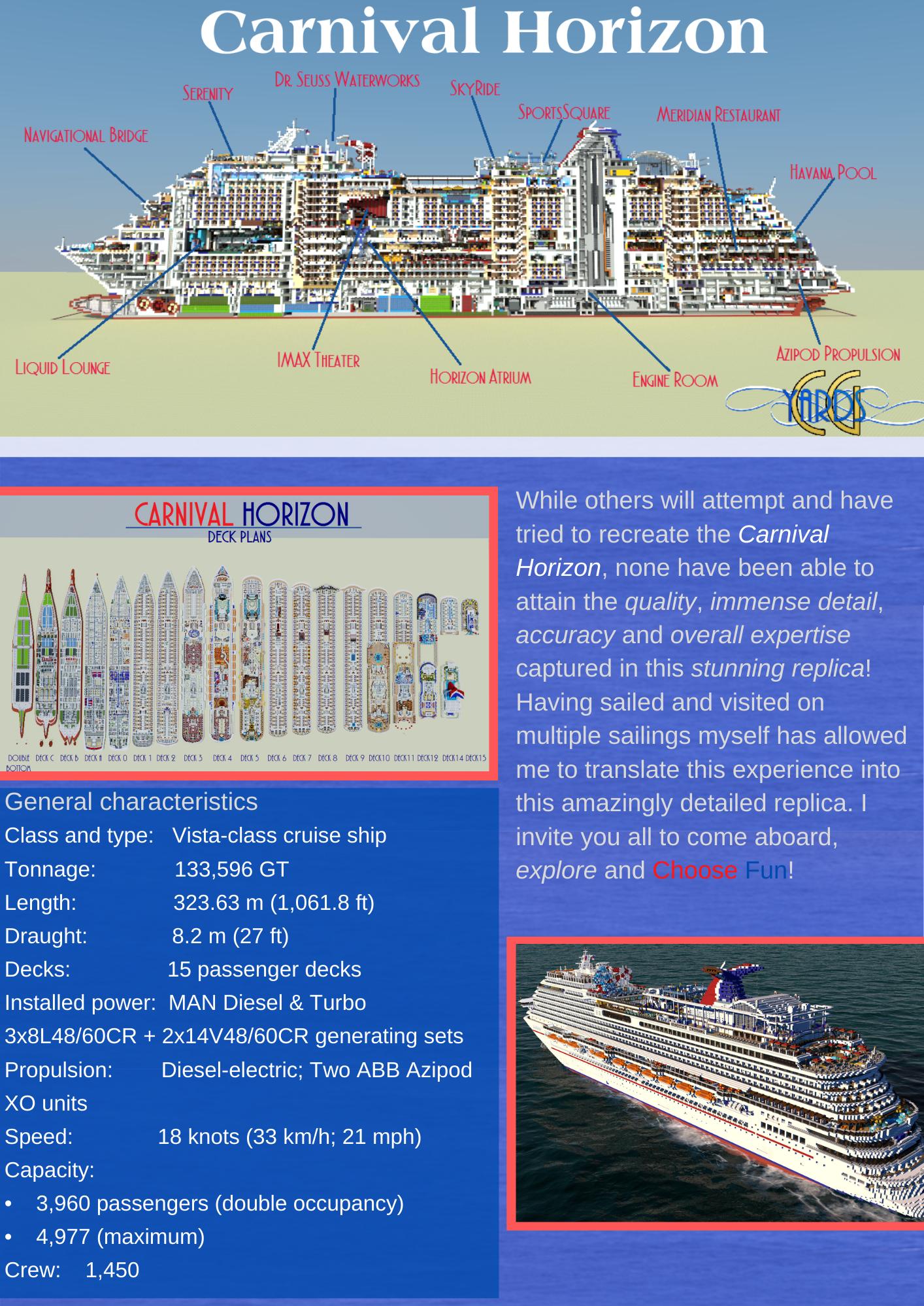 Carnival Horizon Specifications