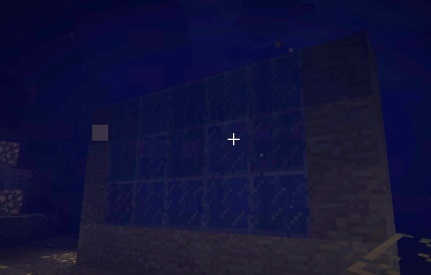 Place glass and stone for underwater base
