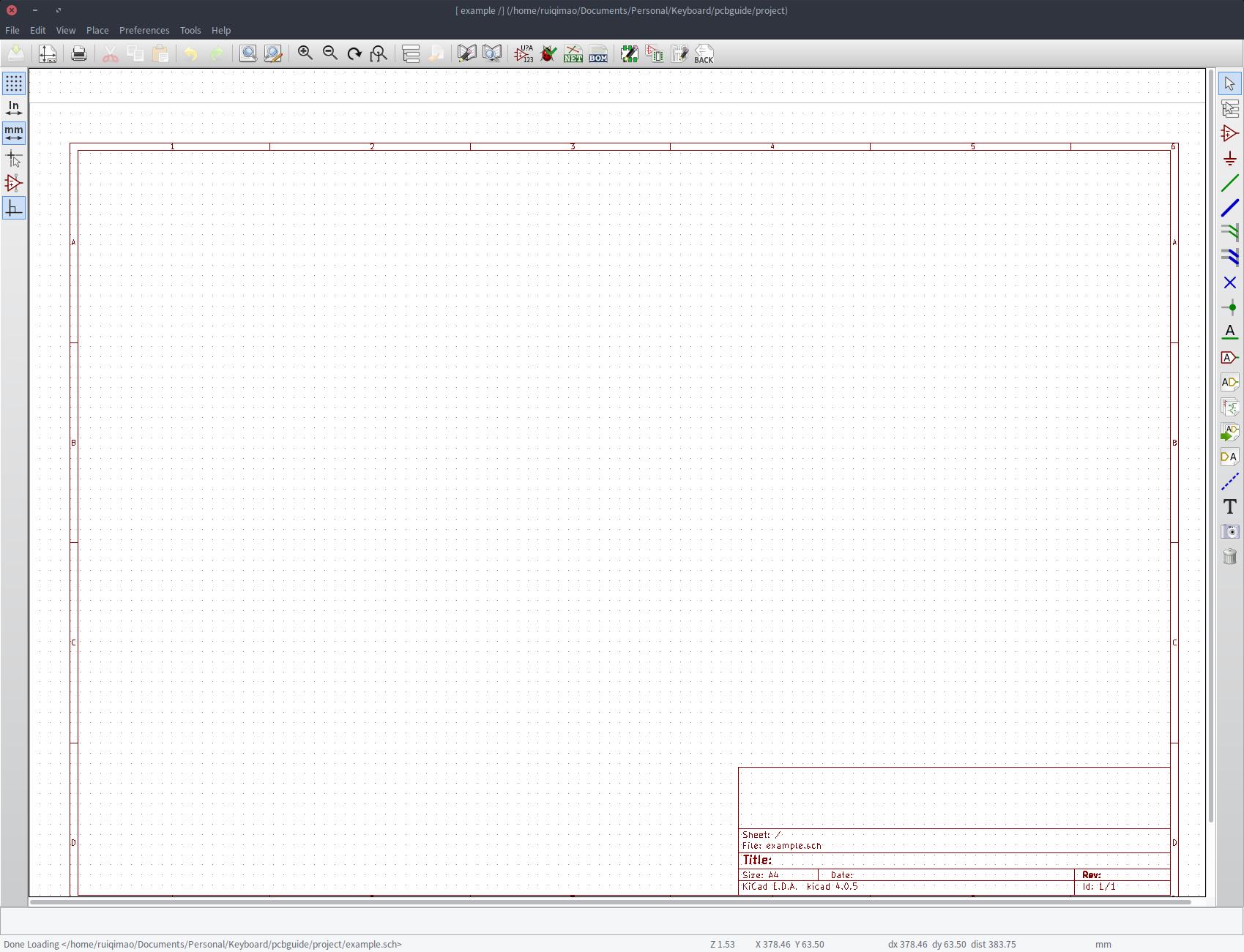 blank schematic screen
